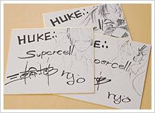 supercellのryo氏、huke氏、三輪氏のサイン色紙