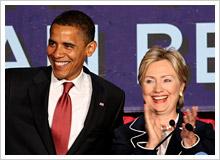 チーム・オバマの閣僚選びにおいても、リンカーンの「チーム・オブ・ライバルズ」に習い、民主党の大統領選指名候補争いで最大のライバルだったヒラリー・クリントンを国務長官に起用 Photo by PRPhotos (C)TokyoGets