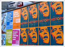 約2週間の限定でハーレムやブルックリン、ビレッジの壁に貼られている「WE MADE HISTORY」のポスター