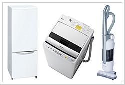 冷蔵庫『NR-FB171W』、洗濯機『NA-FV55B1』、掃除機『MC-U51J1』