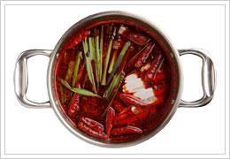 灼熱の赤地獄鍋