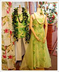 ハワイアンなウエディングドレス