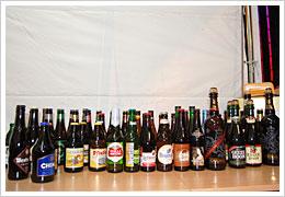 今回用意された全62種類のベルギービール